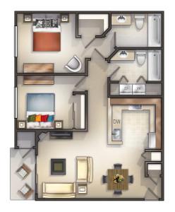2x2 976 sq ft